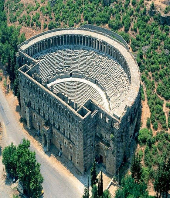 Aspendos Antique Theatre (Havadan Aspendos Antik Tiyatrosu) Turkey.