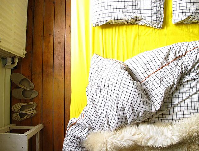 geel dekbed