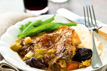Slow cooker pork and prune casserole