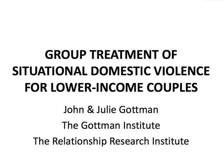 Domestic Violence for Lower-Income Couples < Group Tx by Judith and ...