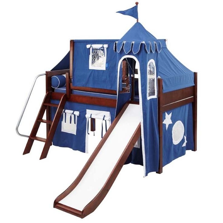 Rosenberry Rooms has everything imaginable for your child's room! Share the news and get $20 Off  your purchase! (*Minimum purchase required.) Skylar Low Loft Bed with Navy and White Castle Tent