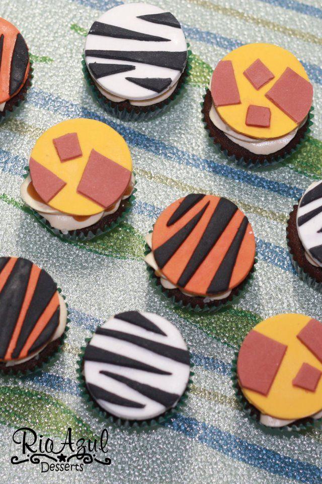 Safari Print Cupcakes