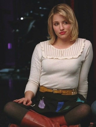 Quinn Fabray in Nordstorm Sweater + Anthropologie Skirt #Glee