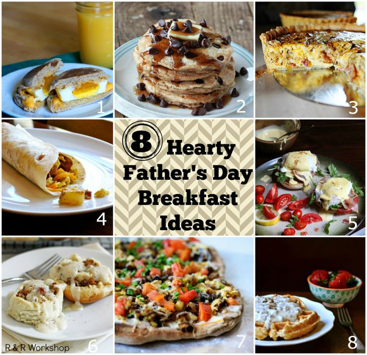 8 Hearty Father's Day Breakfast Ideas! #fathersday #breakfast #recipe