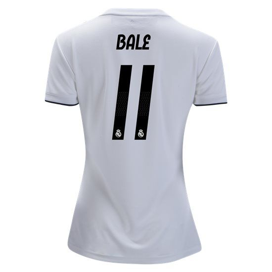 67fb7d5dff5 2018/2019 Gareth Bale Jersey Number 11 Home Women's Real Madrid Team ...