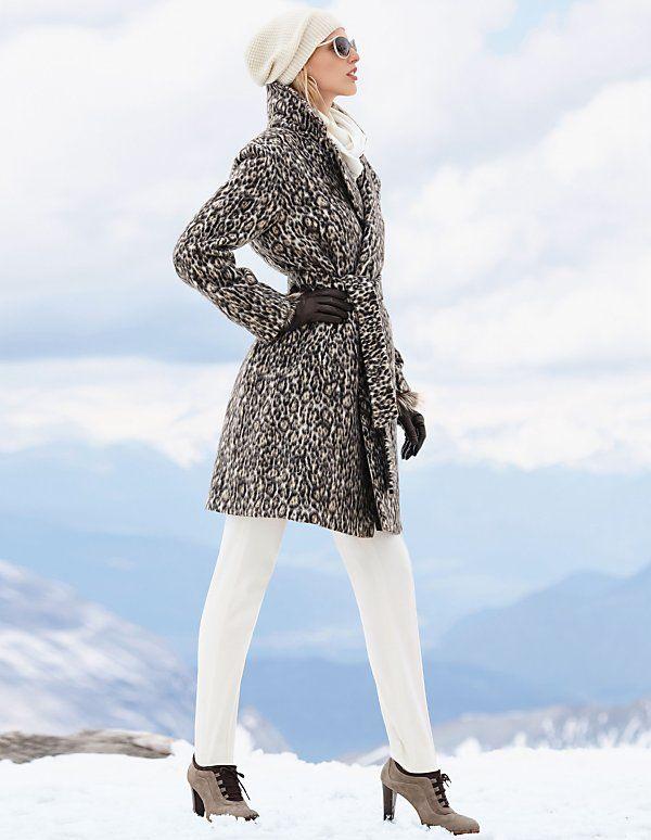 Wintermantel mit Leopardenmuster | MADELEINE Mode