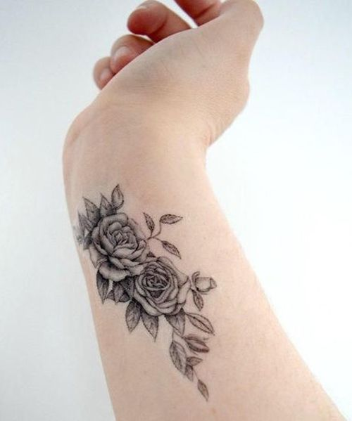 Chic Temporary Flower Tattoos on Wrist for Girls