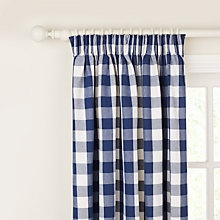 Large Check Pencil Pleat Curtains Online at johnlewis.com