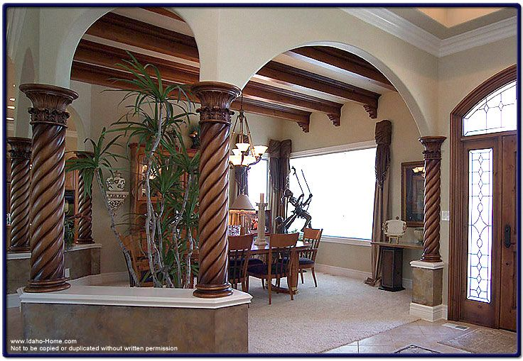 photo of interior beams and brackets | Wood Columns with ...