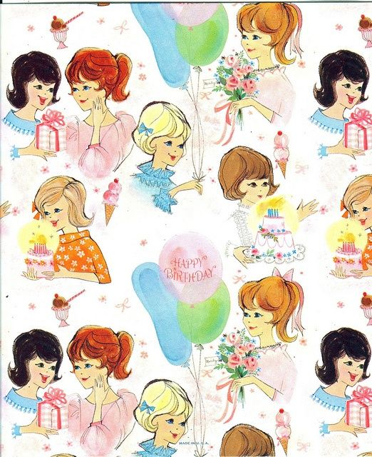Vintage Birthday Wrapping Paper
