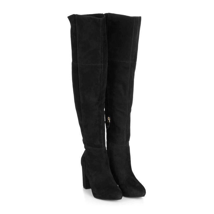 Deze Topshop suède laarzen vind je nu via Aldoor voor de helft van de prijs! #sale #shopaddict #kneeboots