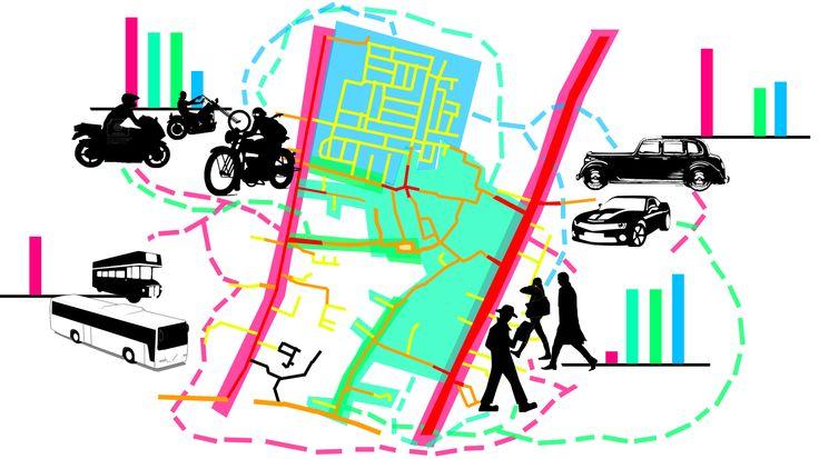 Mobilitas kendaraan dan sirkulasi manusia pada pagi hari cenderung padat.