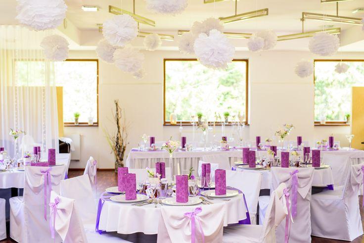 svatební výzdoba fialová