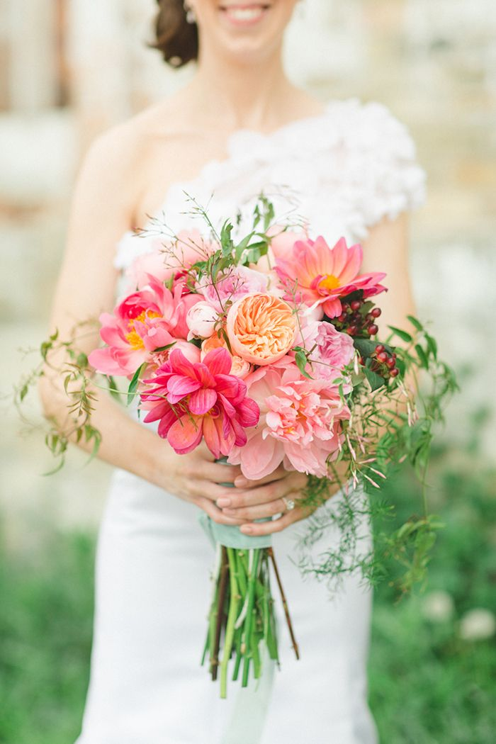 Milwaukee Loft Wedding on Grey Likes Weddings, image by Apryl Ann Photography, Flowers by Kate Weinstein of Le Bash.