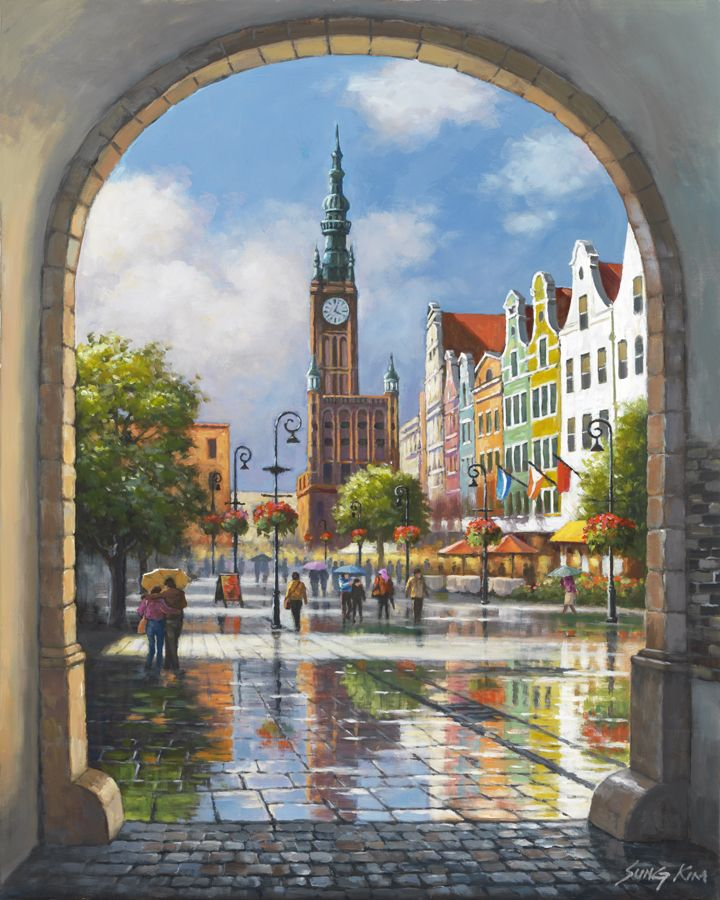 Clock Tower Archway By Sung Kim