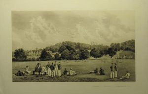 "Beaumont _ ""Cricket-field"" _looking towards the beaches. by W.A. Cox after Francis Philip Barraud & A.H.Wardlow"