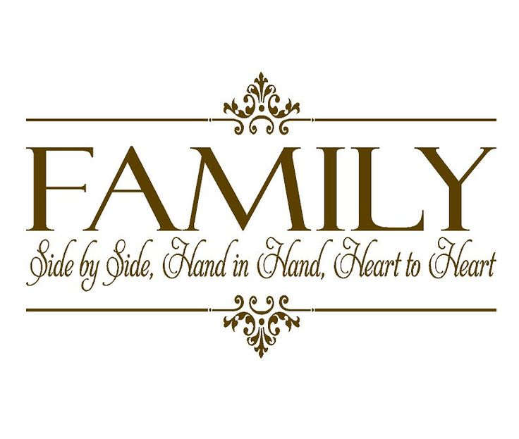 Family Vinyl Wall Decal - Side By Side Hand in Hand Heart to Heart - Christian Family Wall Quote Lettering Vinyl Decals 22h x 36w QT0106. $45.00, via Etsy.