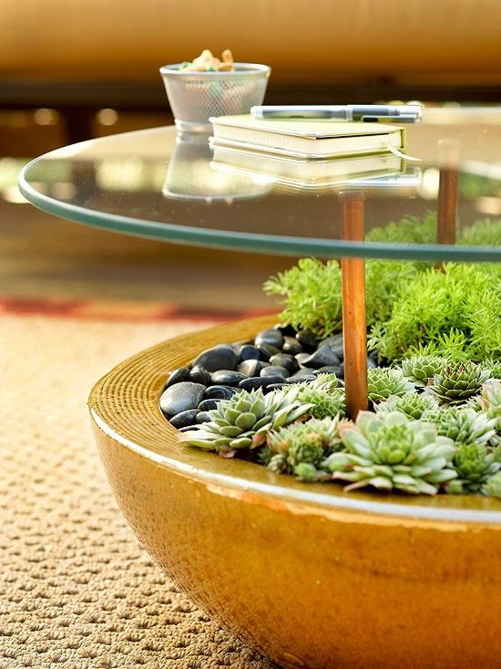 Planter and table in one!