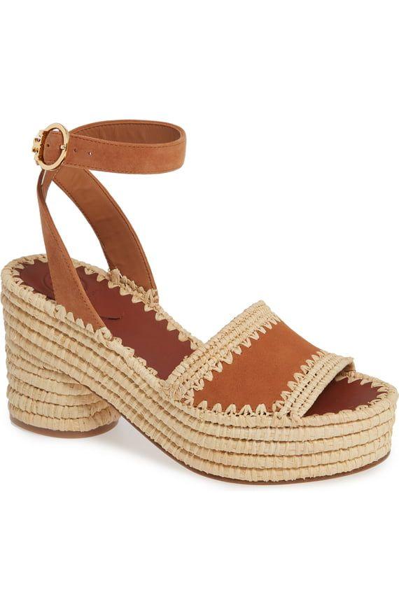04352ef80 Tory Burch Arianne Platform Ankle Strap Sandal (Women)   Nordstrom ...