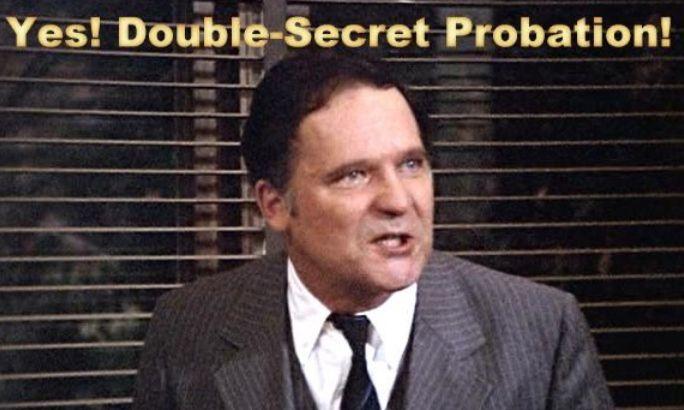 Image Result For Double Secret Probation Animal House Quotes Secret John Vernon