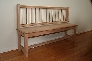 Bench made from old crib.