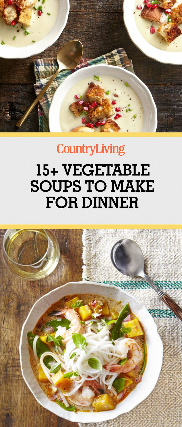 Dish up a bowl of vegetable-based soup for a meal that's both tasty and good for you. You'll want to cozy up with these vegetable soup recipes all winter long.
