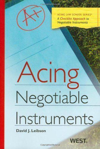 Acing Negotiable Instruments (Acing Series)