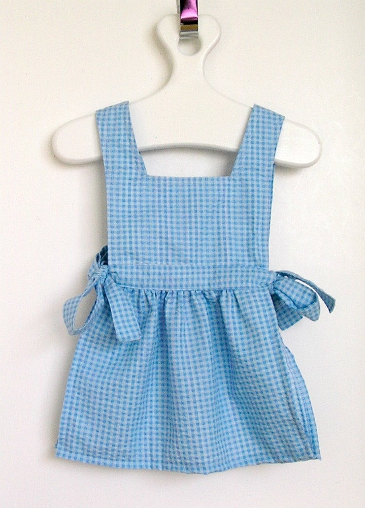 Dorothy Inspired Pinafore Apron Toddler Size 2t 23 00