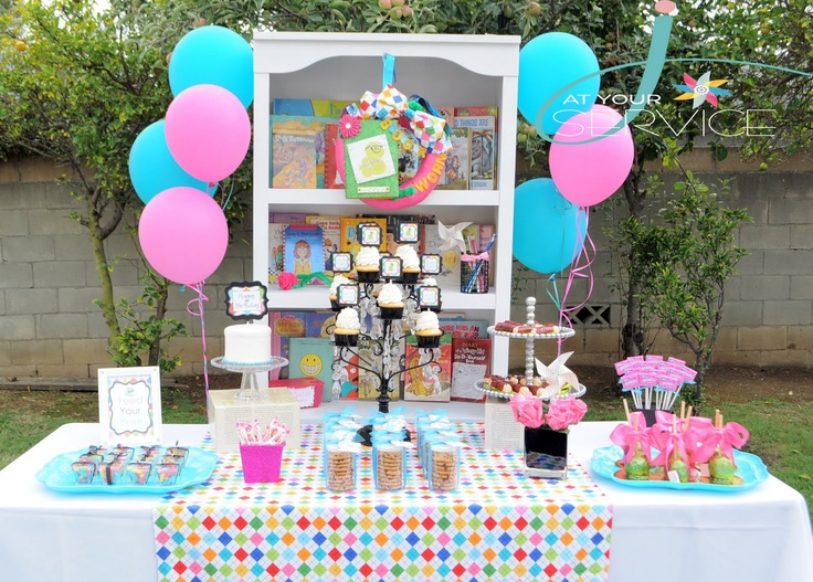 A Glitzy Bookworm Party...A super cute idea for a baby shower too!