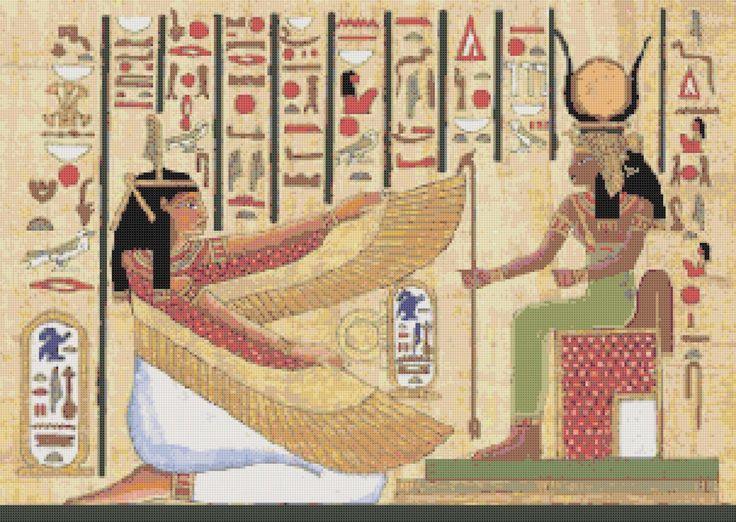 Egyptian cross stitch pattern pdf hieroglyphs cross stitch