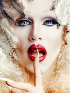 """PSA: Don't loudly exclaim that you """"love Sharon Needles"""" while at work...especially if you work at a small town bank and there are a lot of old people in the building. You will get odd stares...or knowing ones. Or, you know, do it anyway and relish in their confused expressions."""
