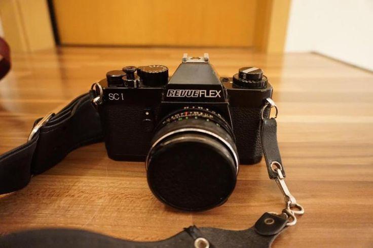 Verkaufe meine alte voll Funktionstüchtige Spiegelreflexcamera von Revueflex SC 1 mit sehr viel Zubehör an Liebhaber.Zubehör:- Große Tragetasche- Zwei kleine Taschen- 3 Objektive-Blitz-BedienungsanleitungenIch würde sagen, aufgrund der seltenen Nutzung, befindet sich die Kamera in einem sehr gutem gebrauchten Zustand!Keine Rücknahme und Garantie!Versand und PayPal sind auch möglich!Versand: 5,99 Euro mit DHL