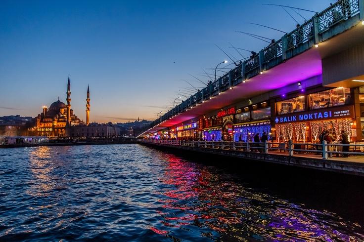 Yeni Cami from Galata Bridge