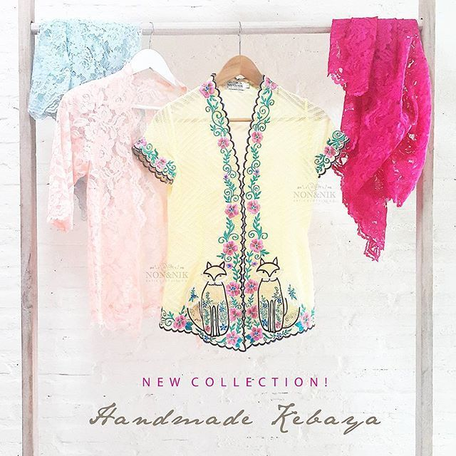 Kebaya is another traditional heritage of Indonesia. This year, our designer has reinvented Kebaya with a touch of contemporary.  Every piece is handcrafted and beautifully embroidered.   Come, be mesmerised and make haste to obtain your very own national treasure.  Official Launching at #indonesiafashionweek2016  JCC main Lobby 10-13 March 2016 • • • • • •  #newcollection #kebaya #kebayaencim #batiknonik #nonandnik #localbrandindonesia #readytowear