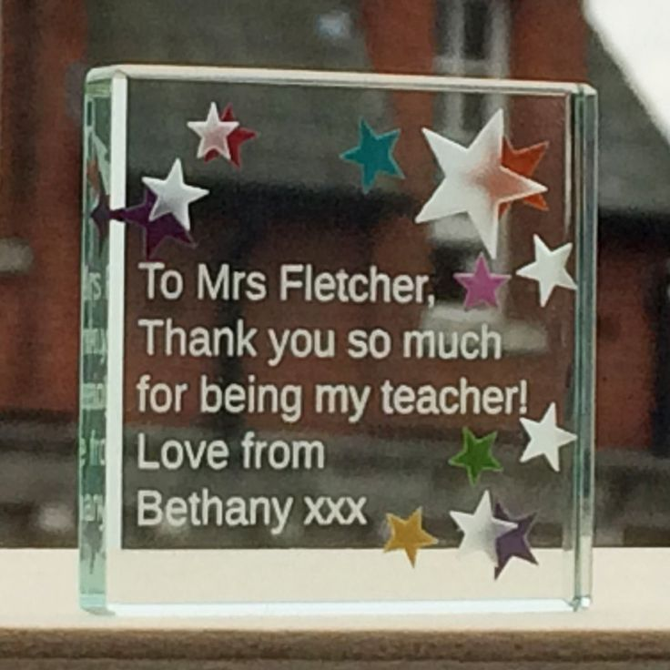 This is a lovely gift which can be personalised to include a special message straight from you to your favourite teacher who means the world to you. #Love #Teacher #ThankYou #Gift #Special #Personalised #Spaceform #London