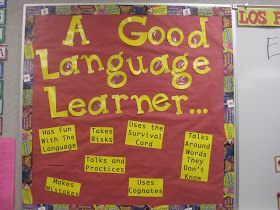 Really good ideas for decorating a foreign language classroom. I love the idea…