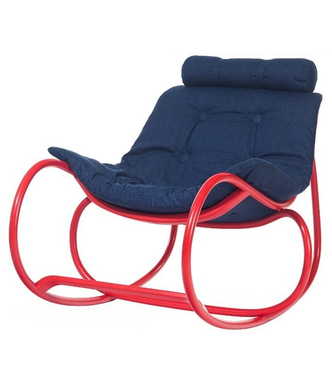 Captivating Rocking Upholstered #chair WAVE By TON | #design Michal Riabic #red