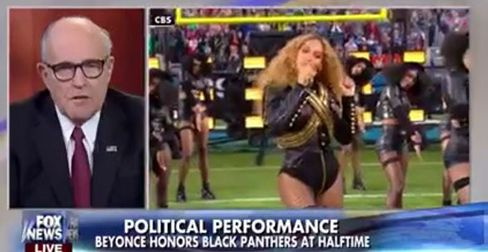 Rudy Giuliani rips Beyoncé for outrageous attack on cops at halftime