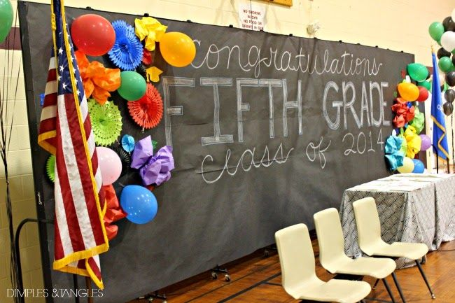 5TH GRADE GRADUATION SCHOOL GYM DECORATIONS AND TEACHER GIFTS
