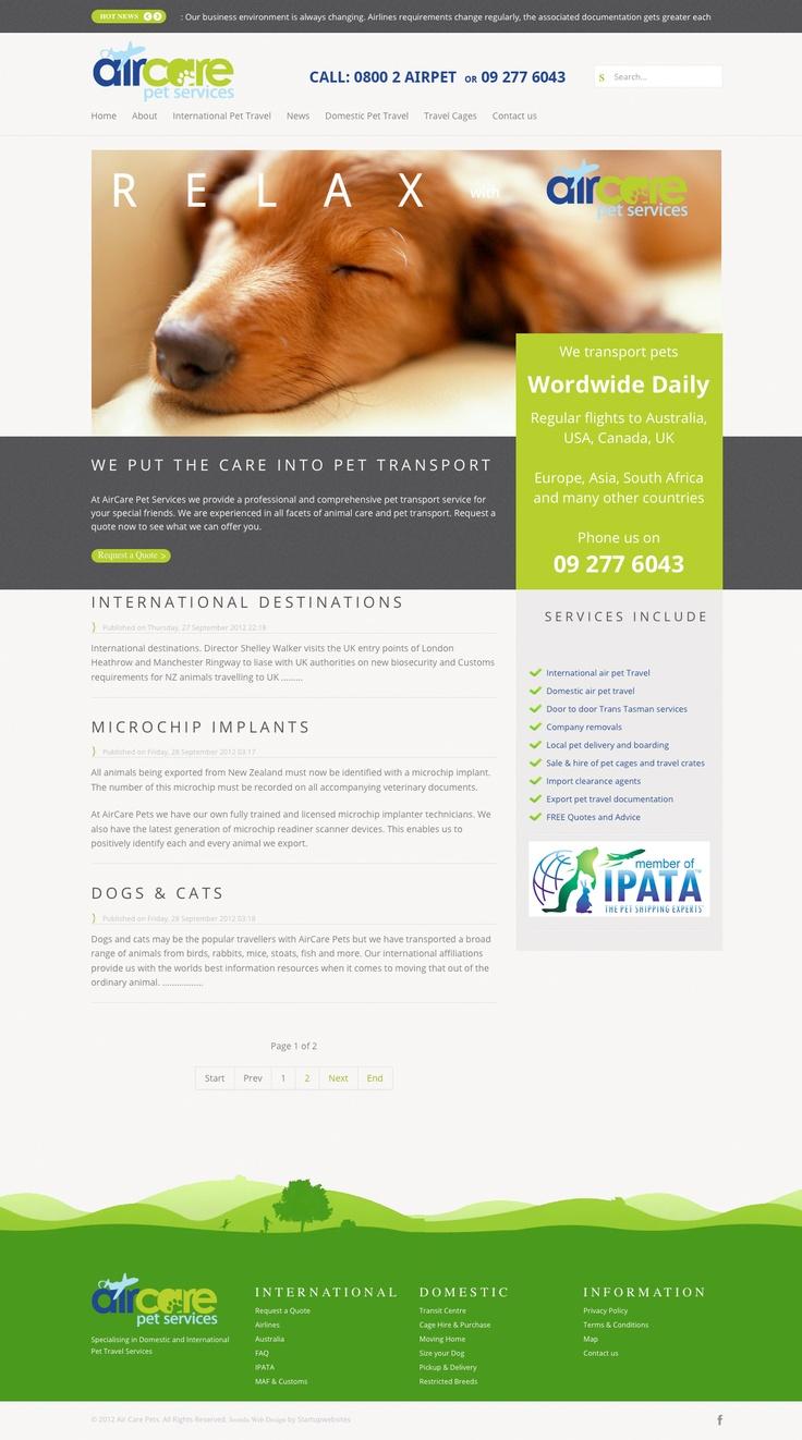 Air Care Pets Responsive Joomla Business Website