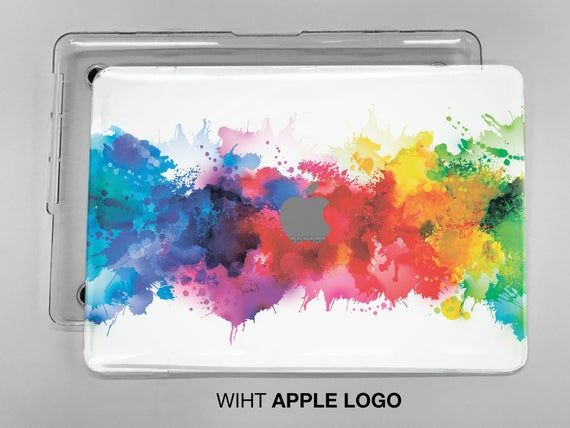 Color powder splash print case for laptop protective hard plastic double sided macbook case Macbook
