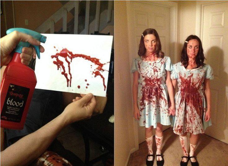 faux sang fait maison- idées pour tacher les costumes Halloween
