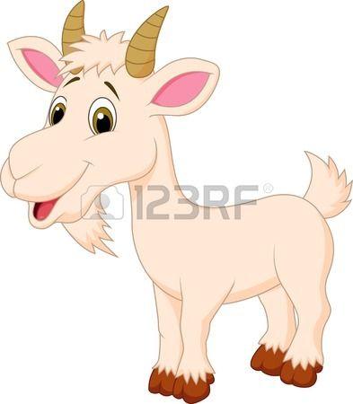 Personaje de dibujos animados de cabra