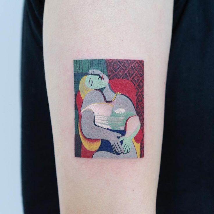 The Dream By Pablo Picasso   Tatuaje De Picasso -9107