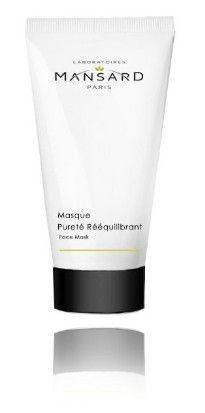 Masque Pureté Rééquilibrant 75ml - Mansard Paris, Avec ce masque purifiant, offrez à votre peau un véritable soin rééquilibrant en profondeur.   Il absorbe l'excès de sébum et les impuretés, resserre les pores et prévient l'apparition des impuretés cutanées.