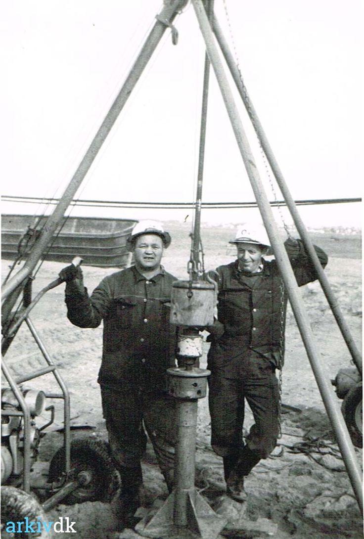 arkiv.dk   Arvid Olsson som arbejdsmand på projekt Ny Lillebæltsbro, indviet i 1970.