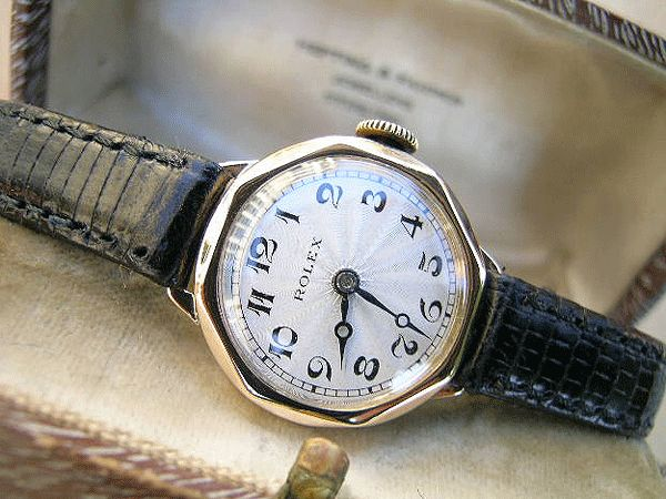 Rolex ladies gold with guilloche dial, boxed, 1935 | Vintage Watches