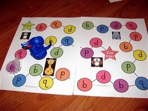 Montessori Tidbits: game to practice letter b and d.