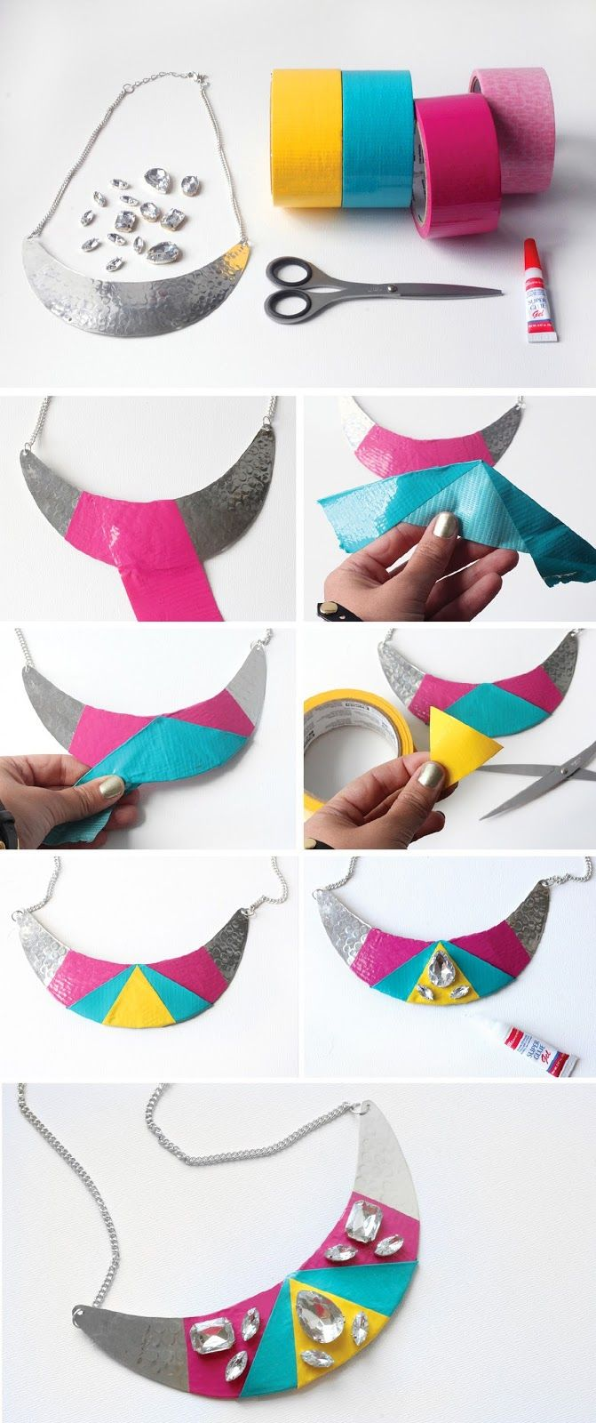 I Spy DIY: MY DIY | Color Block Gem Necklace