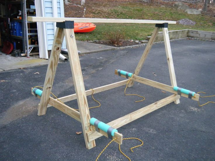 kayak+storage+homemade | build kayak storage rack outdoor ...